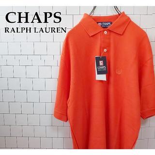 チャップス(CHAPS)の【未使用タグ付】チャップス ラルフローレン ポロシャツ 刺繍ロゴM オレンジ(ポロシャツ)