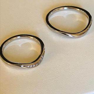 ヨンドシー(4℃)の4°C プラチナリング 二本セット(リング(指輪))