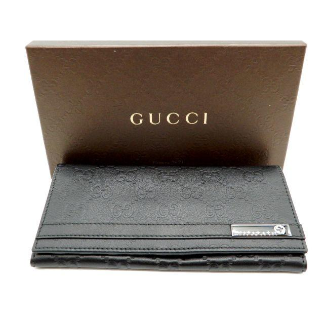 Gucci - 639/GUCCI/グッチ メンズ長財布 黒レザーの通販 by full-brandy's shop|グッチならラクマ