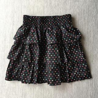 バービー(Barbie)のバービー ハート柄 スカート 新品同様(ミニスカート)