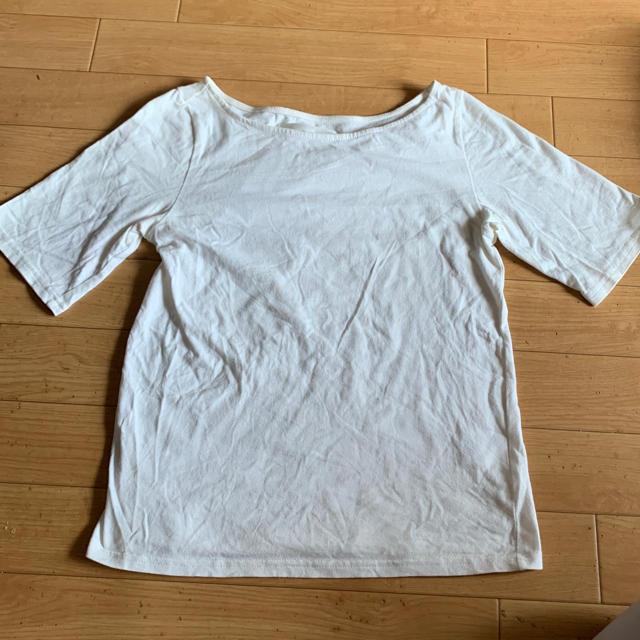 mysty woman(ミスティウーマン)の送料込 Tシャツ フリーサイズ オフホワイト レディースのトップス(Tシャツ(半袖/袖なし))の商品写真