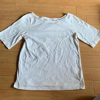 ミスティウーマン(mysty woman)の送料込 Tシャツ フリーサイズ オフホワイト(Tシャツ(半袖/袖なし))