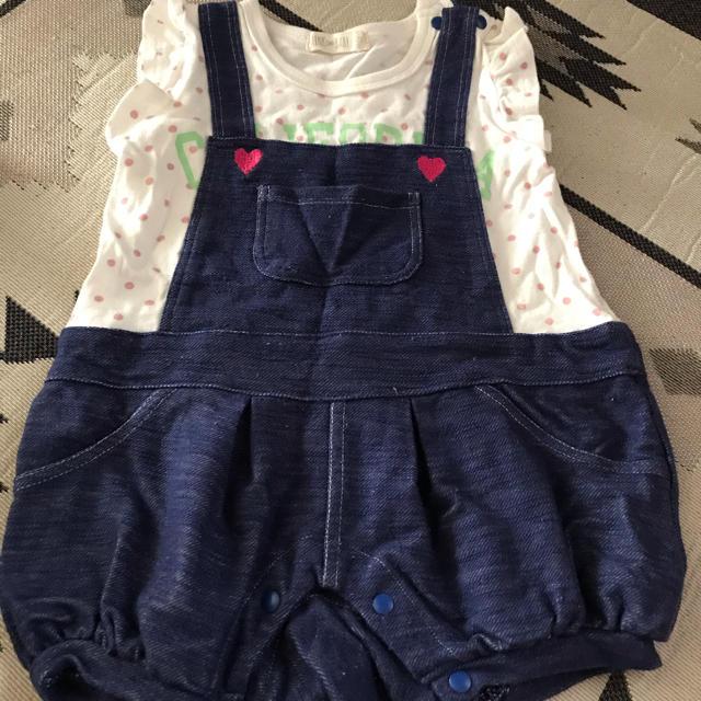 しまむら(シマムラ)のバースデイ購入 ロンパース 美品 キッズ/ベビー/マタニティのベビー服(~85cm)(ロンパース)の商品写真