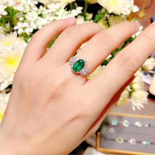 1.81カラットビビットグリーンエメラルド指輪(リング(指輪))