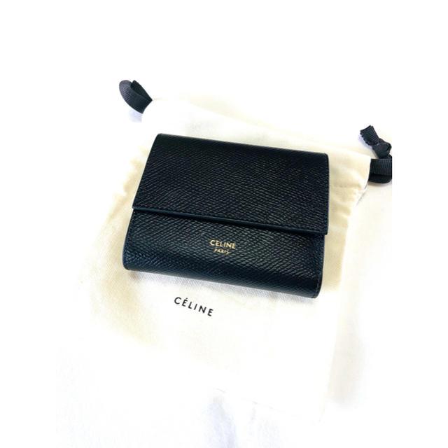 celine - CELINE/セリーヌ トリフォールド コンパクト財布 美品 正規品の通販 by J's shop|セリーヌならラクマ