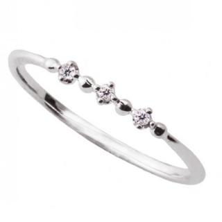 10K WG ダイヤモンドリング 3号(リング(指輪))