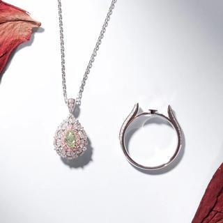 グリーンイエローダイヤモンドの両用指輪(リング(指輪))