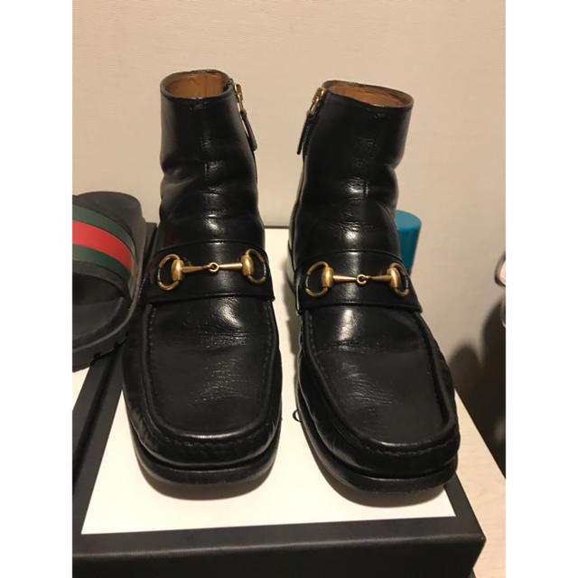 Gucci(グッチ)のgucci サイドジップ ビー 17aw メンズの靴/シューズ(ブーツ)の商品写真