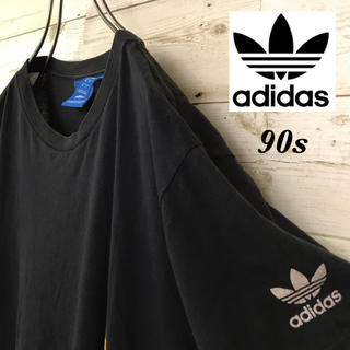 アディダス(adidas)の【激レア】アディダス☆トレフォイル刺繍ロゴ入り半袖グラフィックTシャツ90s(Tシャツ/カットソー(半袖/袖なし))