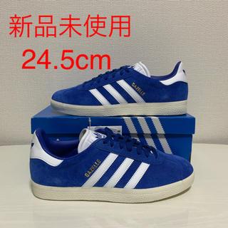 アディダス(adidas)の【新品】24.5cm アディダス ガゼル ブルー スニーカー(スニーカー)