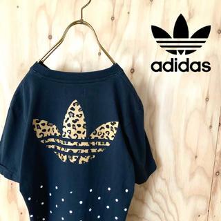 アディダス(adidas)の【希少】adidas originals ビッグロゴ  ドット tシャツ BK(Tシャツ/カットソー(半袖/袖なし))