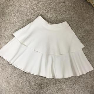 ルシェルブルー(LE CIEL BLEU)の※ストレッチフレアスカート ミニ ホワイト(ミニスカート)
