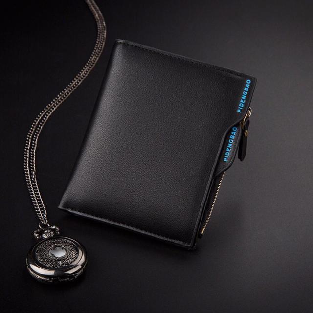 財布 二つ折り財布 メンズ お札入れ カード入れ 小銭入れ  ブラックの通販 by りゅう's shop|ラクマ