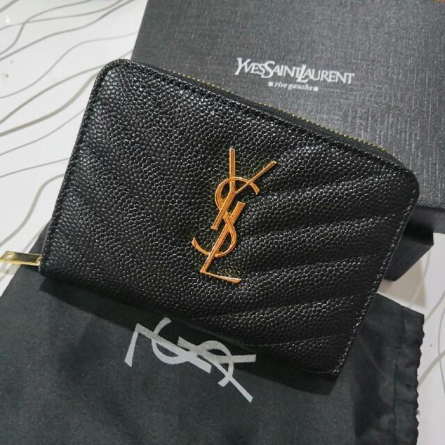 Saint Laurent - 超人気 Saint Laurent 二つたたみ 開閉式 ファスナー 折り財布 の通販 by ミ🌈😍キ's shop|サンローランならラクマ
