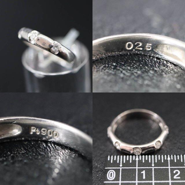 Pt900 プラチナ 5ポイント ダイヤモンド リング 0.25ct レディースのアクセサリー(リング(指輪))の商品写真