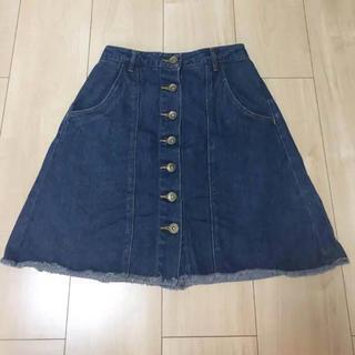 ウィゴー(WEGO)の美品 ウィゴー デニムスカート(ひざ丈スカート)