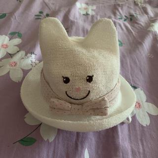 アカチャンホンポ(アカチャンホンポ)のベビー帽子麦わら帽子 48cm(帽子)
