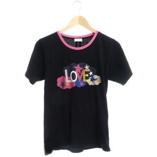 サンローラン(Saint Laurent)の正規品 サンローランパリ LOVE 半袖Tシャツ 黒 ブラック ピンク レディー(Tシャツ(半袖/袖なし))