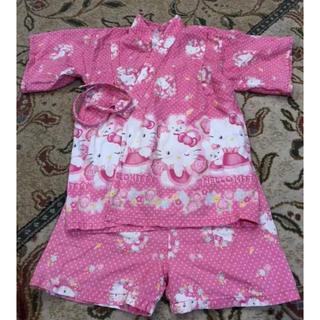 ハローキティ(ハローキティ)の女の子 甚平 サイズ100 ハローキティー(甚平/浴衣)