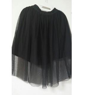 ジーユー(GU)のチュールスカート 130  GU  黒(スカート)