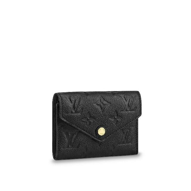 LOUIS VUITTON -  ルイヴィトン ブラック ミニ ウォレット 財布 三つ折り LV ロゴの通販 by 益子's shop|ルイヴィトンならラクマ