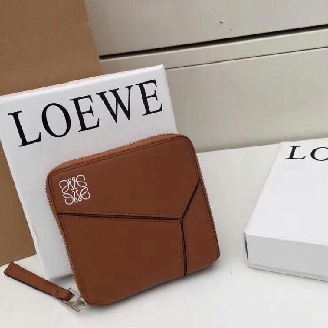 LOEWE -  LOEWEレザーラウンドファスナーニつ折り財布ウォレット小銭入れの通販 by ミス・ウェンジ shop|ロエベならラクマ