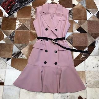 ディオール(Dior)のDIORワンピースピンク大人気美品綺麗19ss(ひざ丈ワンピース)