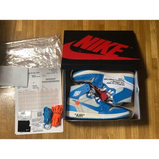 ナイキ(NIKE)のOff-White Nike Air Jordan 1 UNC 25.5(スニーカー)