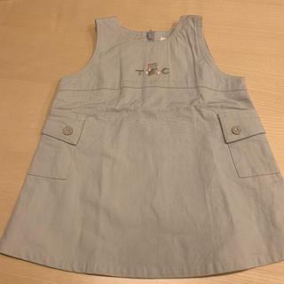 タルティーヌ エ ショコラ(Tartine et Chocolat)のタルティーヌエショコラ  ジャンパースカート  80(ワンピース)