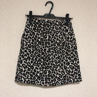 ローリーズファーム(LOWRYS FARM)のローリーズファーム レオパードスカート 美品(ミニスカート)