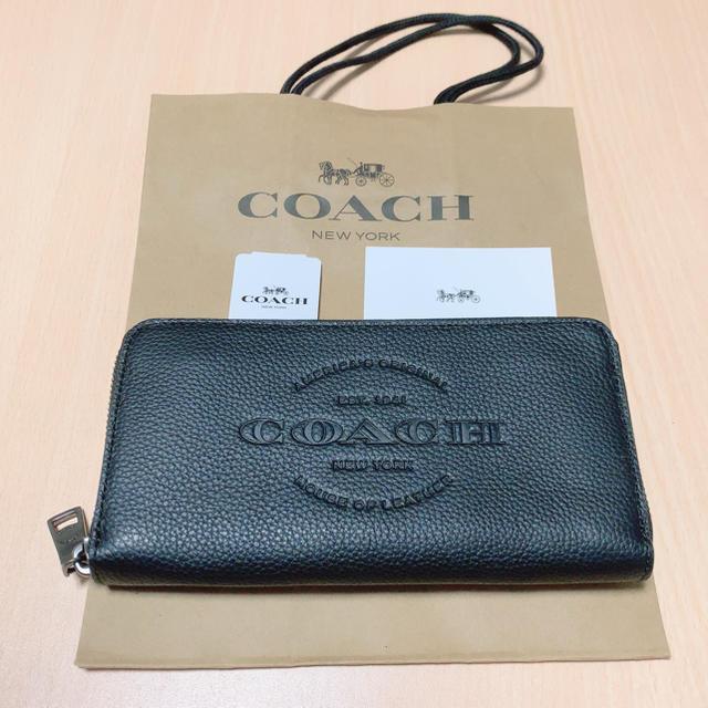 COACH - 【新品】COACH 長財布 ブラック レザーの通販 by Lin♡'s shop⇨プロフィール必読|コーチならラクマ