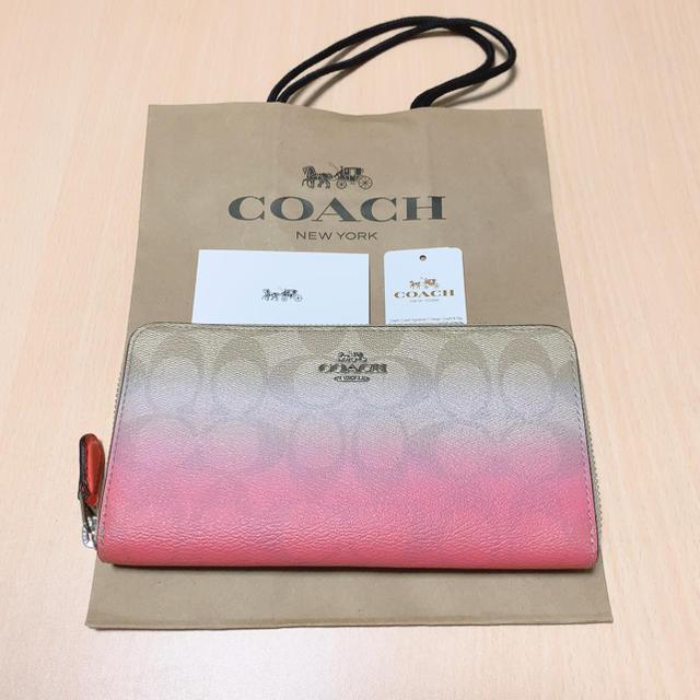 COACH - 【新品】最新作★ COACH 長財布 グラデーション ピンクの通販 by Lin♡'s shop⇨プロフィール必読|コーチならラクマ