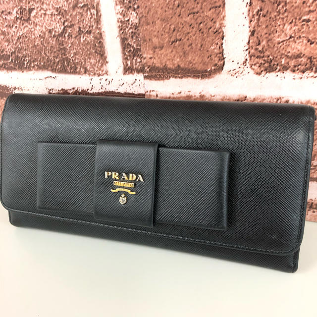 brontibayparis バッグ スーパー コピー - PRADA - PRADA プラダ 長財布 リボン ブラックの通販 by なな's shop|プラダならラクマ