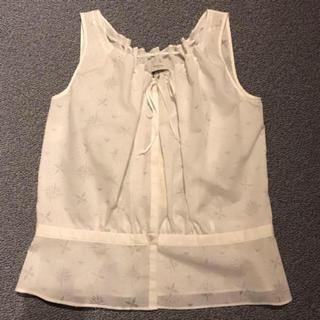 ポールスミス(Paul Smith)のPaul Smith 白いノースリーブブラウス(シャツ/ブラウス(半袖/袖なし))