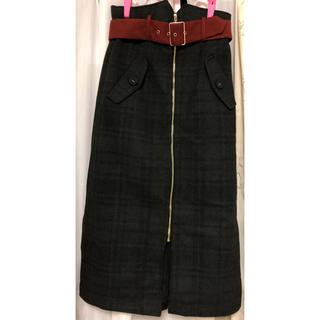 レディアゼル(REDYAZEL)のレディアゼル  【2WAY】前ジップタイトスカート(ひざ丈スカート)