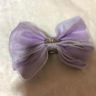 リズリサ(LIZ LISA)の新品未使用 LIZLISA 紫×白レース リボンバレッタ(バレッタ/ヘアクリップ)