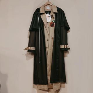 バレンシアガ(Balenciaga)の【廃盤】yoi kadakada layered coat レイヤードコート(トレンチコート)