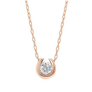 BLOOM - 新品エステールダイヤモンド 馬蹄ネックレス ピンクゴールド小ぶり華奢