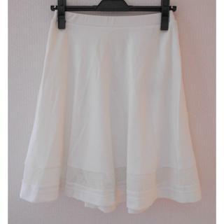 ジエンポリアム(THE EMPORIUM)の【新品】50%オフ THE EMPORIUM スカート Mサイズ ホワイト(ひざ丈スカート)