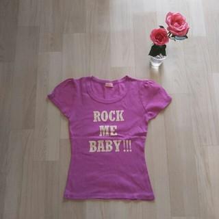 デイシー(deicy)のdeicy 半袖 Tシャツ M 綿 100% ピンク Baby リボン ROCK(Tシャツ(半袖/袖なし))