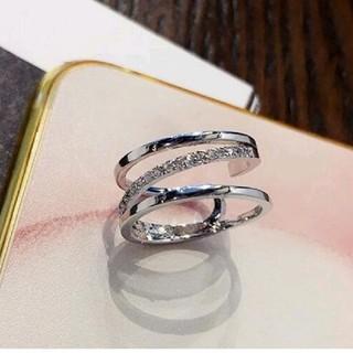 ◆新品未使用◆ダイヤモンドデザインリング15号(リング(指輪))