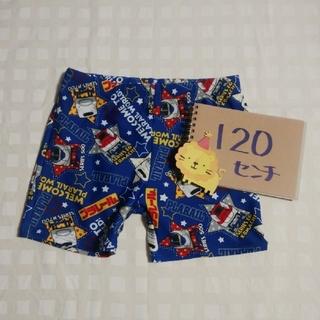 タカラトミー(Takara Tomy)の120☆トミカプラレール☆男の子用水着☆スイムパンツ☆ブルー☆スイミング☆プール(水着)