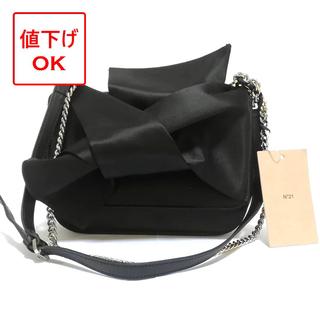N°21 - 【正規品・65%off】N°21 新品 ショルダーバッグ リボン ブラック 黒