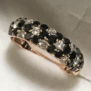 ジュエリーツツミ(JEWELRY TSUTSUMI)のツツミ K14 1.19カラット ブラックダイヤモンドリング(リング(指輪))