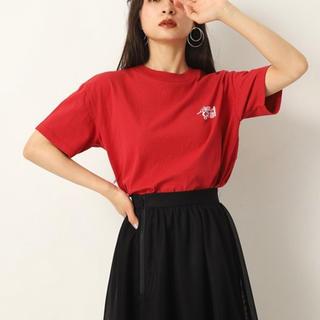 新品タグ付き LAGUA GEM ロゴ Tシャツ 赤(Tシャツ(半袖/袖なし))