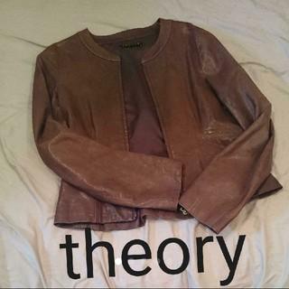 セオリー(theory)のtheory ラムレザー ライダース(ライダースジャケット)