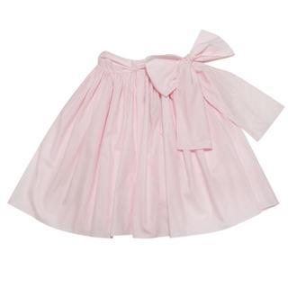 ミュウミュウ(miumiu)の新品ミュウミュウmiu miuリボン ギャザースカート ピンク#40(ひざ丈スカート)
