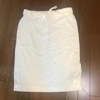 デミルクスビームス(Demi-Luxe BEAMS)のDemi-Luxe 白 コットンスカート カジュアルスタイル(ひざ丈スカート)