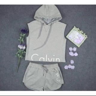 カルバンクライン(Calvin Klein)のカルバンクライン ノースリーブセットアップ(ルームウェア)