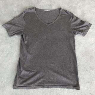 サンスペル(SUNSPEL)の◇SUNSPEL グレー半袖Tシャツ メンズ V サイズM(Tシャツ/カットソー(半袖/袖なし))